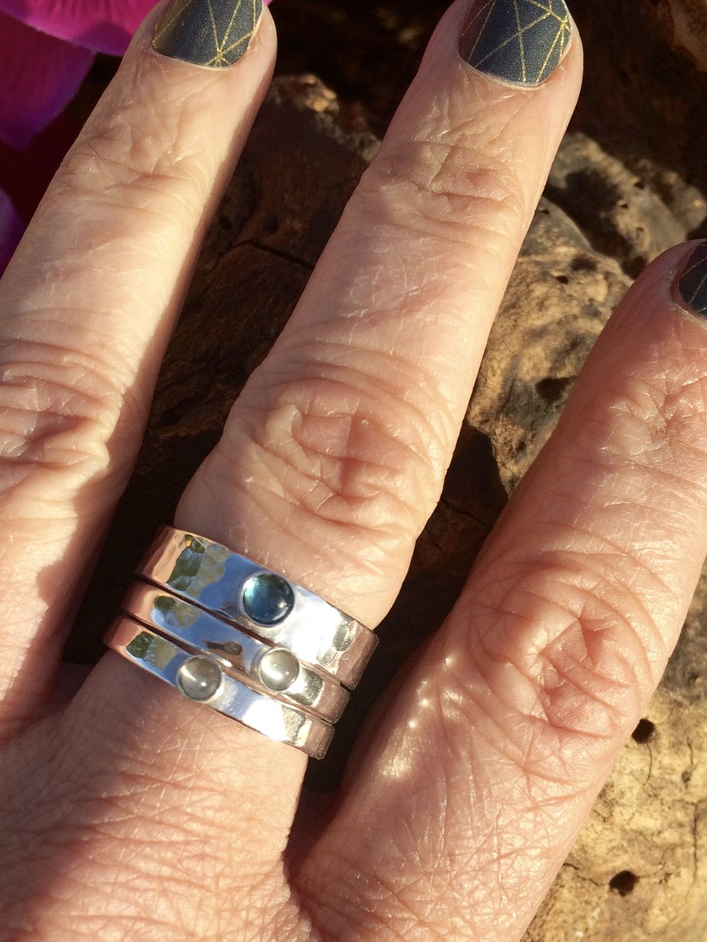 Custom Stacker Storyboard Stone Rings