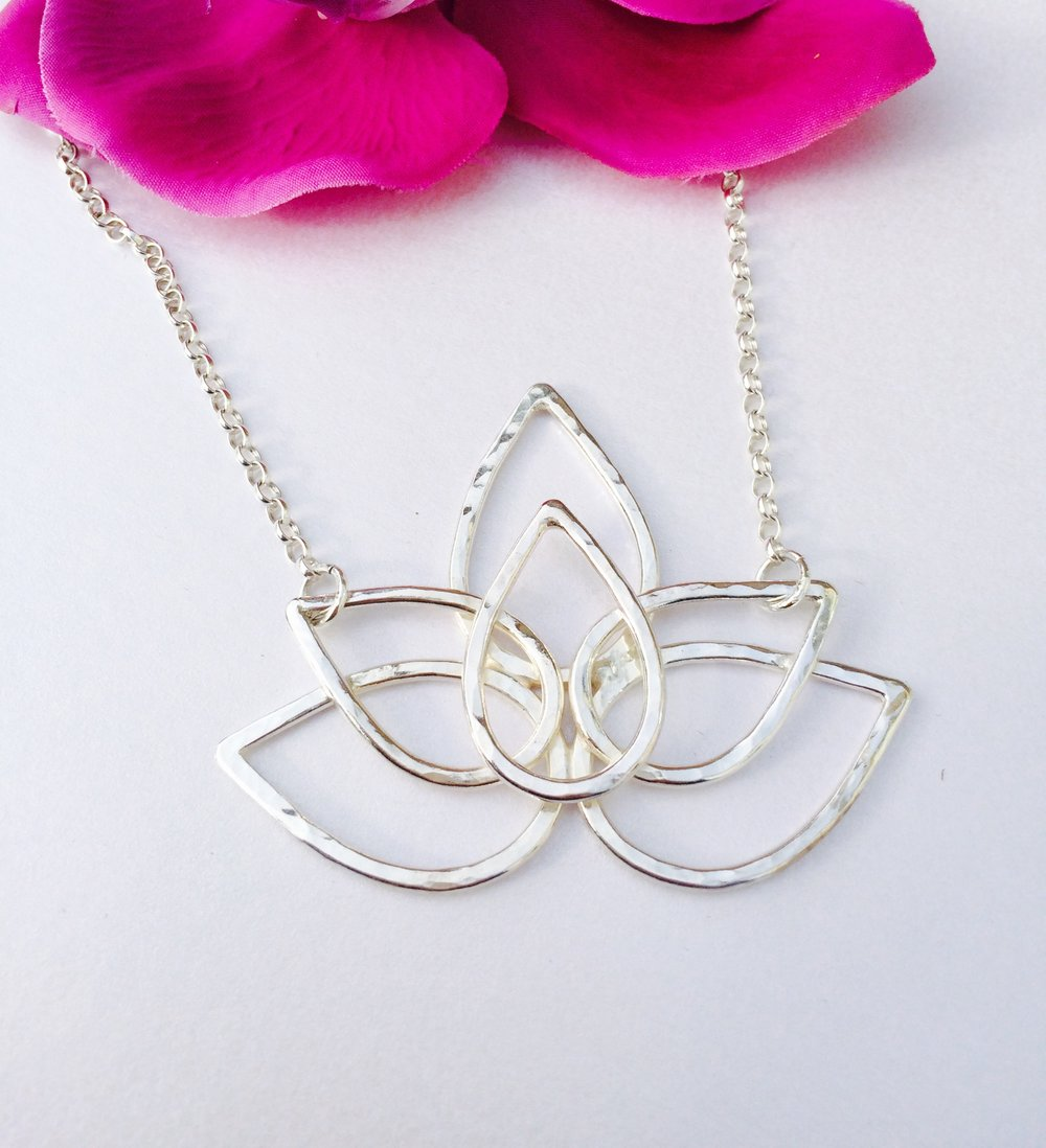 Lotus 'Open Heart' Necklace