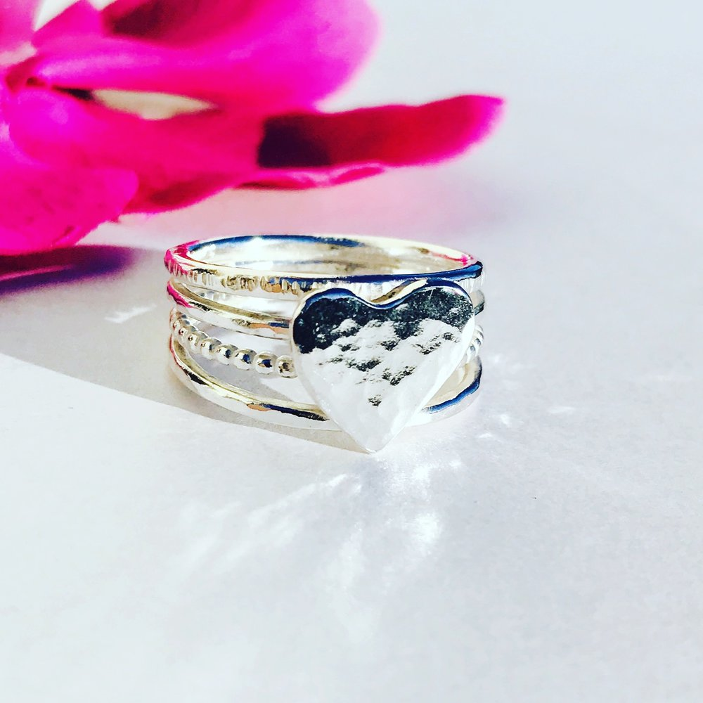 Custom Heart Stacker Ring