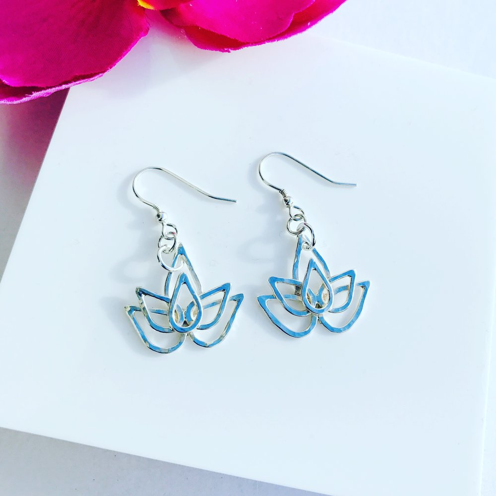 Custom Lotus Earrings
