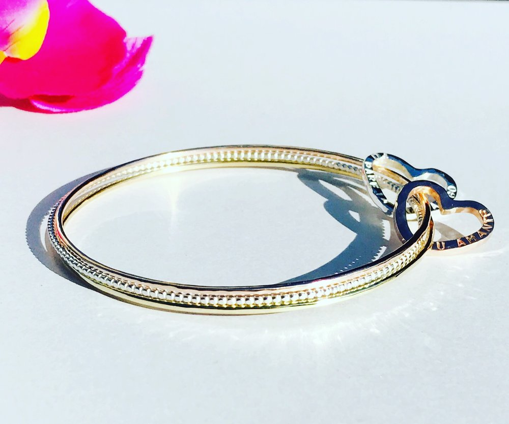 Custom Tri-Gold Bangle