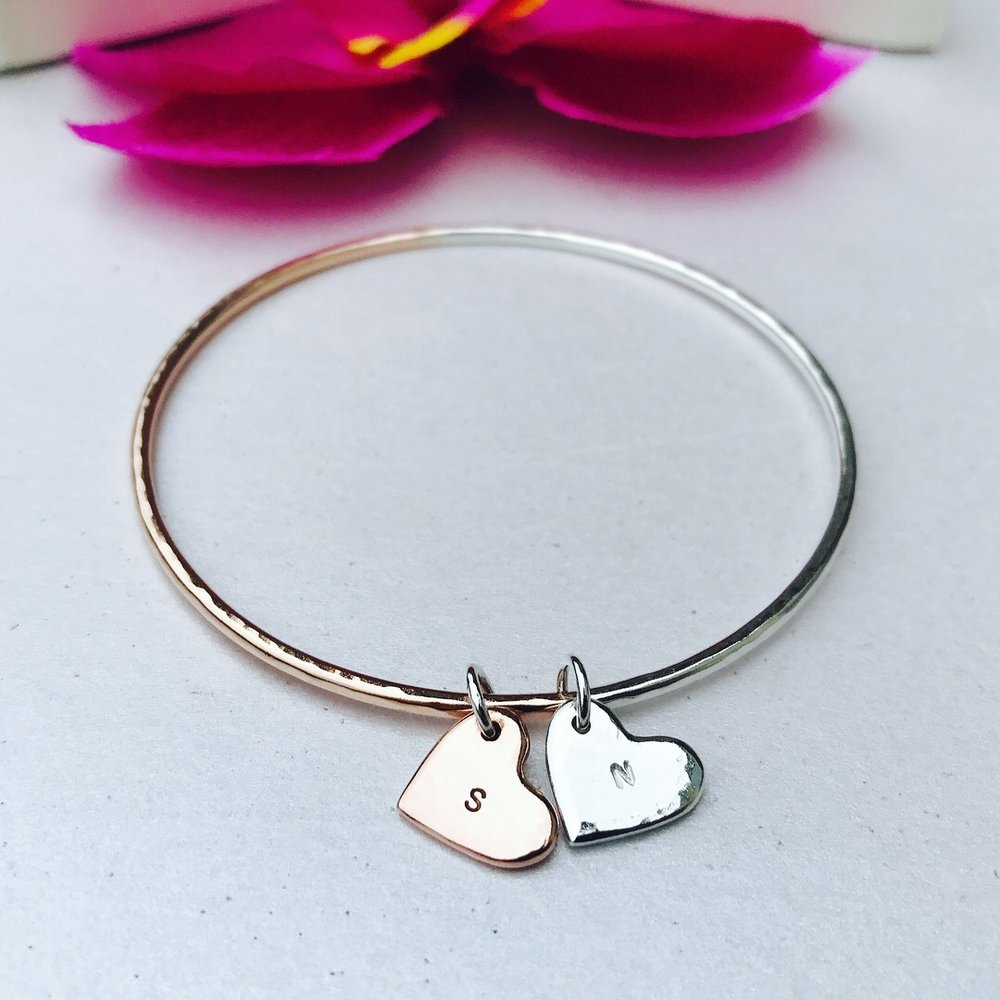 Custom Rose Gold Unity Bangle