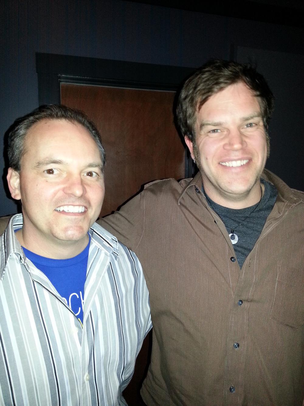 Joe Kendrick and Aaron Burdett at Moonlight Mile Productions in Arden, NC