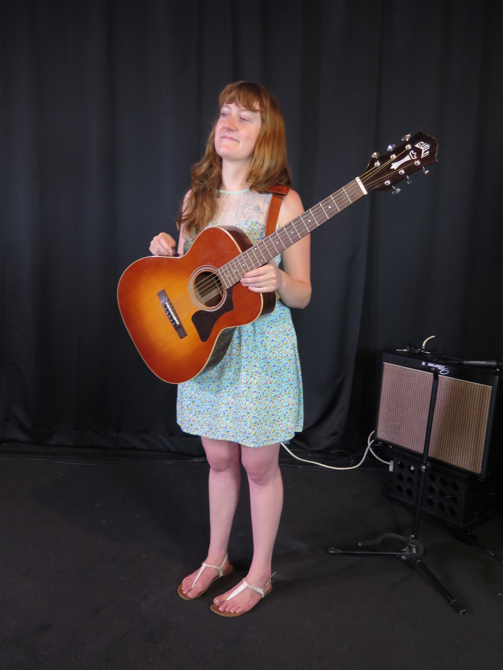 Amanda Anne Platt of The Honeycutters at Moonlight Mile studio for our film session to make the pitch video for our crowd funding campaign.