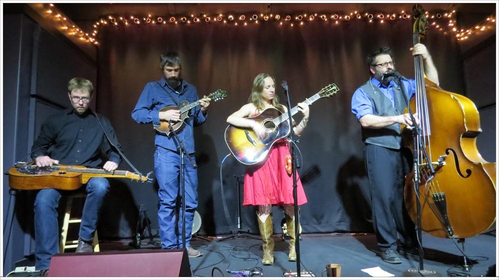 Aaron Ballance, Jed Willis, Anya Hinkle and Stig Stiglets play at Moonlight Mile 1-17-16. Photo: Tom Watts