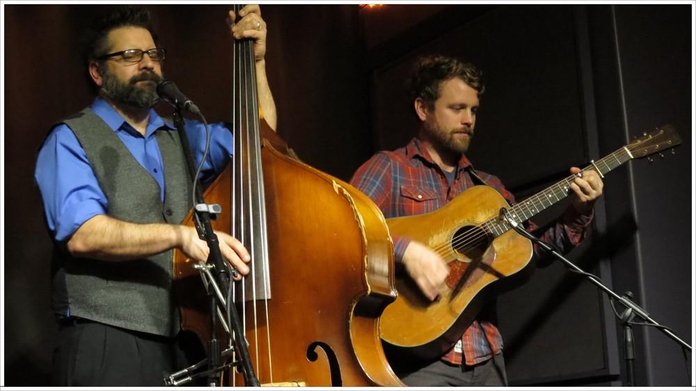 Stig Stiglets on bass and Tellico producer Jon Stickley on guitar. Photo: Tom Watts