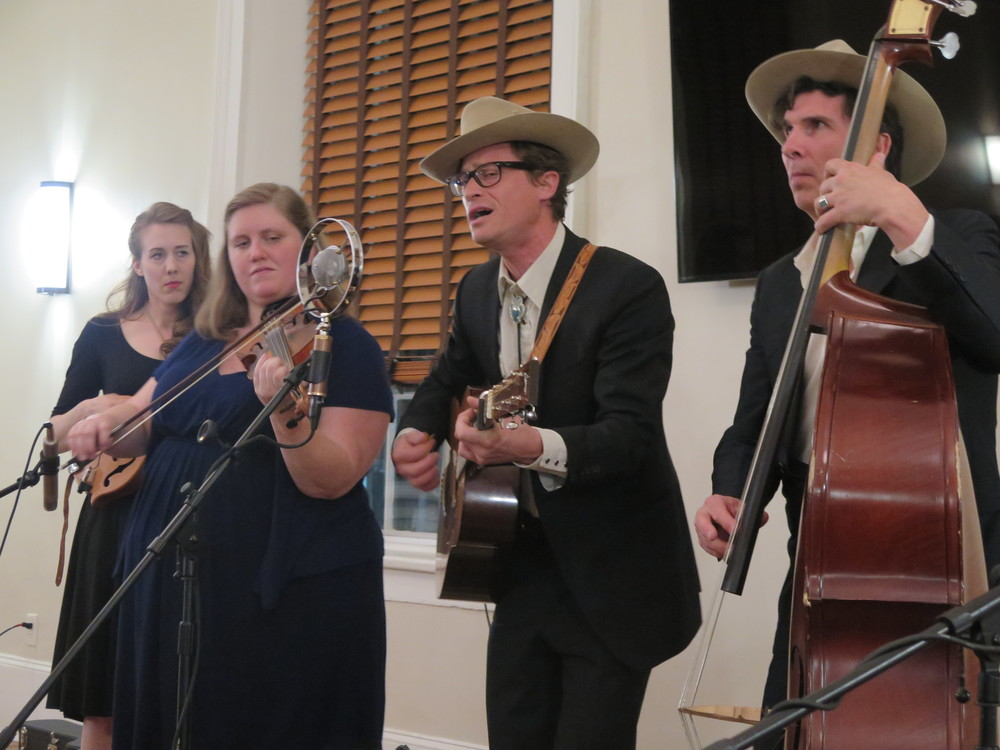 Bass player Simon Flory switches to guitar to take the lead for High Plains Jamboree