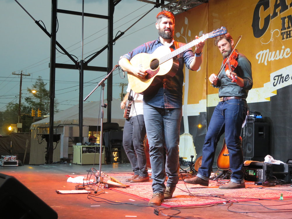 Guitarist Jay Lapp of The Steel Wheels steps out on the main stage