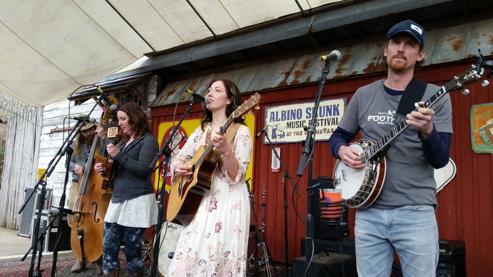 Alexa Rose and her band opened up the SpringSkunk Music Festival Thursday