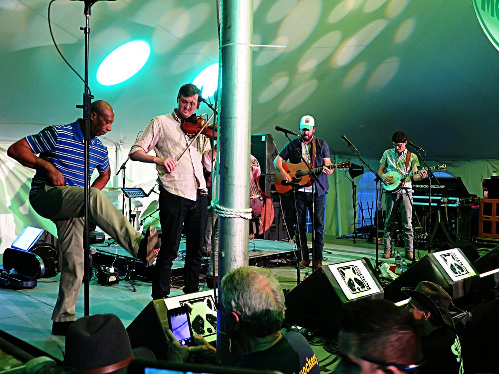 Buck dancing from Arthur Grimes with Town Mountain at Merlefest 2018