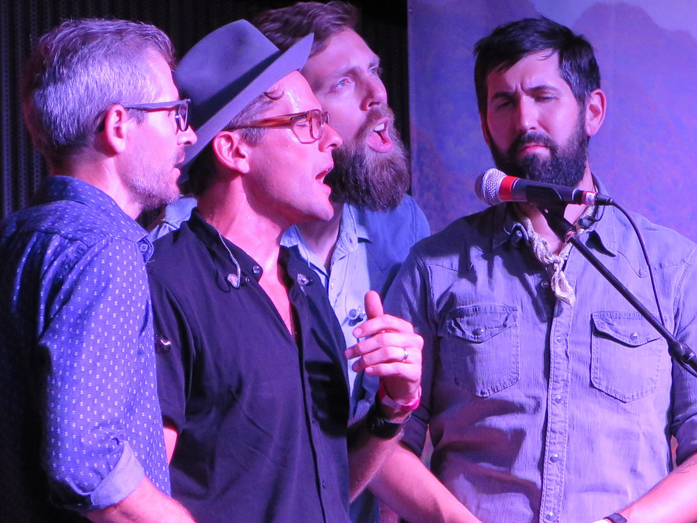 (L to R) Brian Dickel, Trent Wagler, Eric Brubaker and Jay Lapp perform at Carolina In The Fall on September 21st, 2018