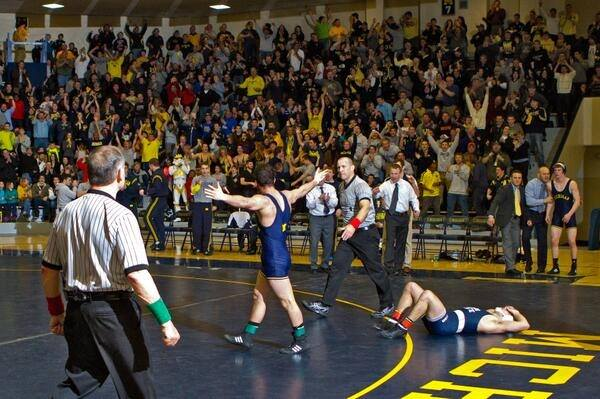 Best match of the year by far. You see me during the video in the stands calling for stalling with my fist in the air in the 2nd period.