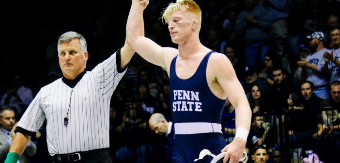 Penn State's 184lber Bo Nickal. Photo: Alex Bauer