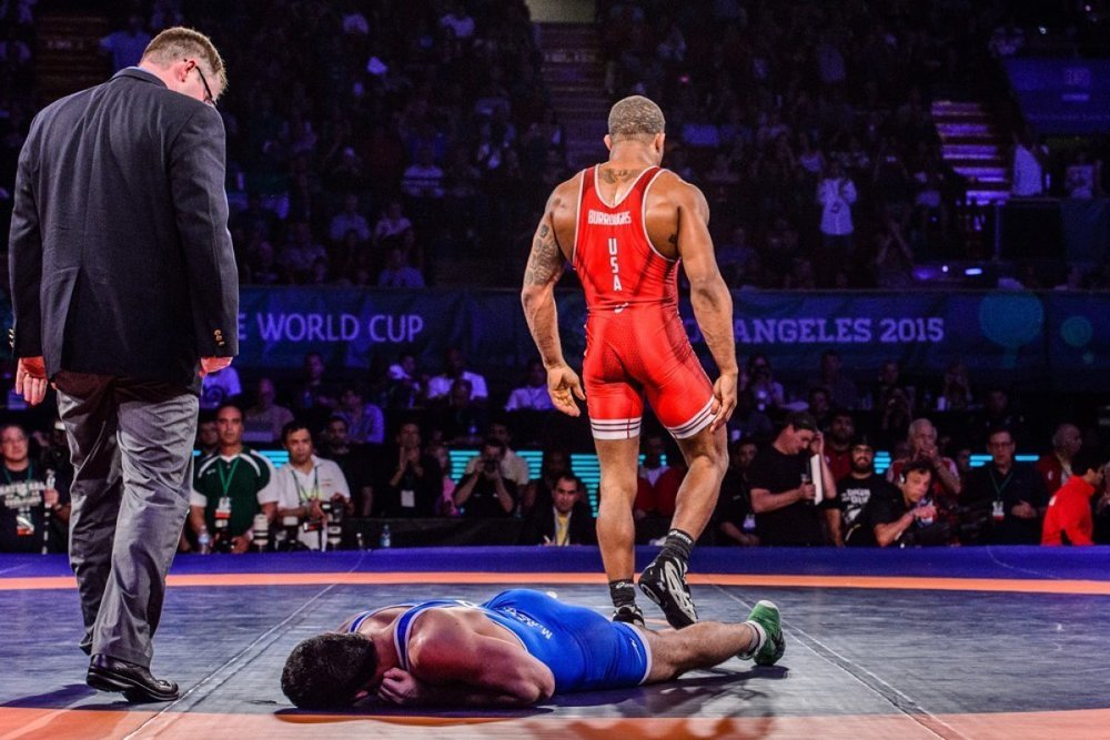 Jordan Burroughs at the 2015 World Cup