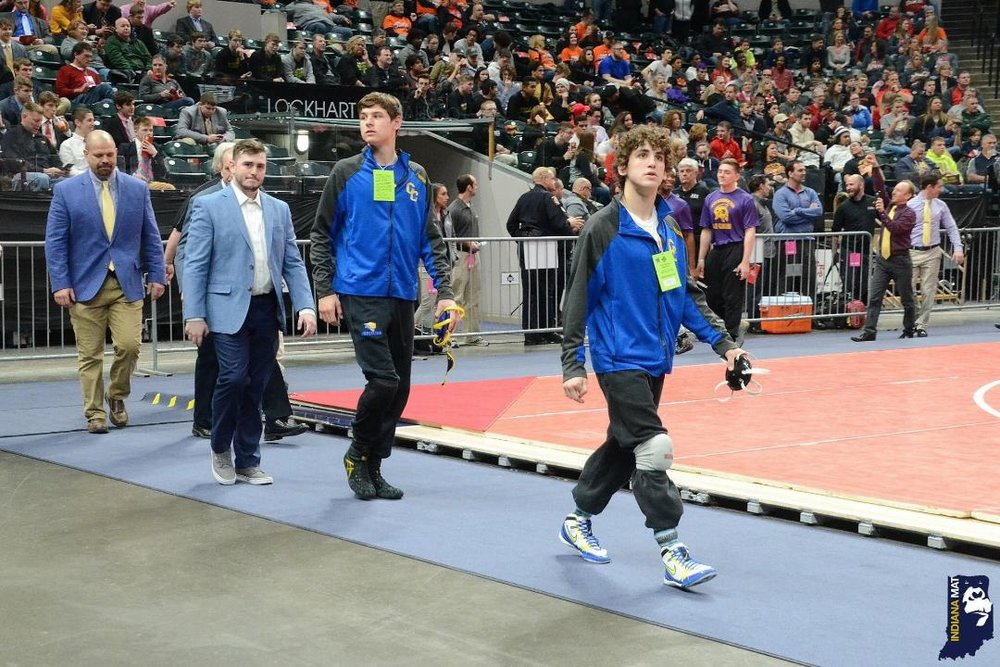 The 2018 Indiana State Finals Parade of Champions. Who's that handsome fella in the light blue coat?