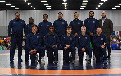 Not Pictured: Adam Coon as he had to fly to Lehigh to wrestle Gwiazdowski the next night.