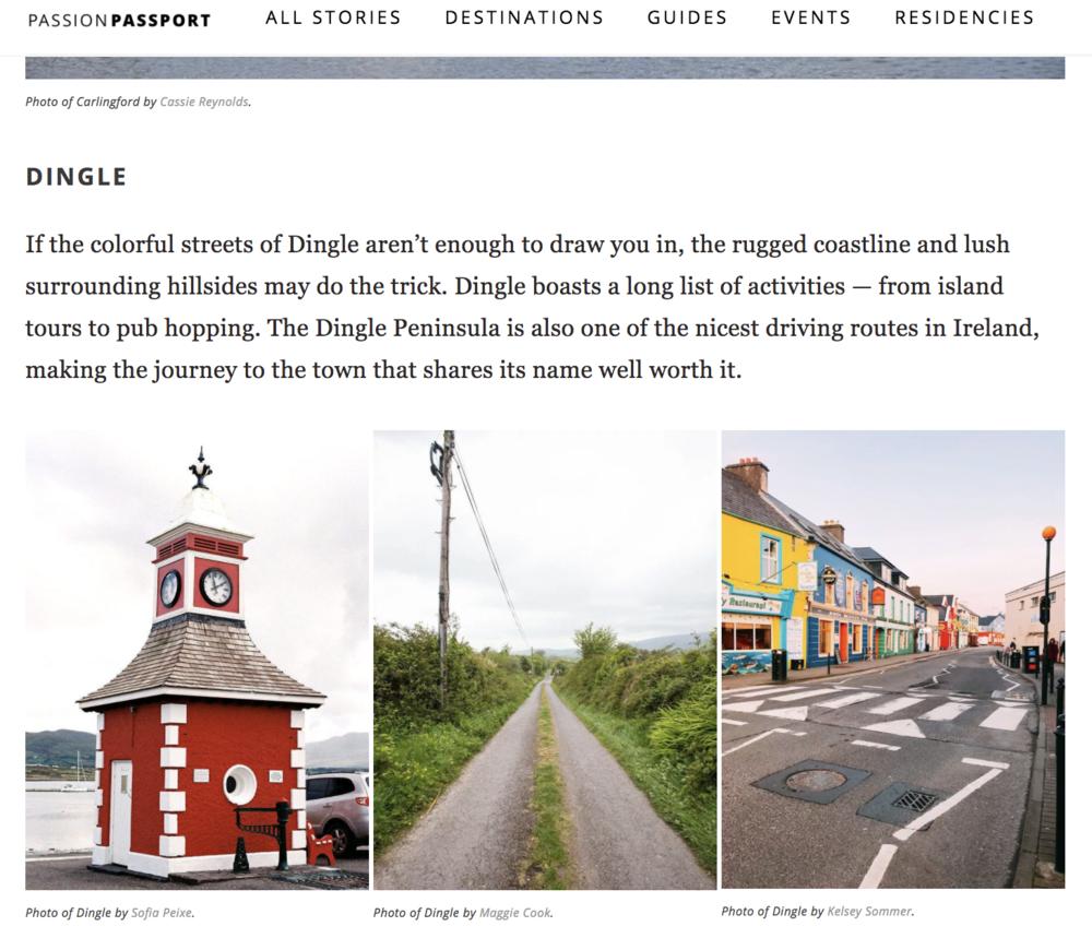 Passion Passport on Ireland Guide