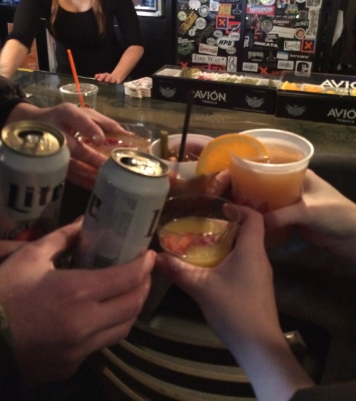 CHEERS! IT'S 11AM & THE BARS ARE JAMMED