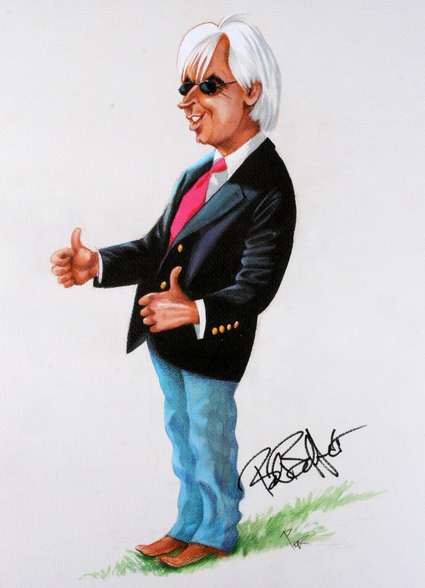 Who's got two thumbs and the top two horses in the Derby right now? This guy. (illustration byPierre Bellocq)