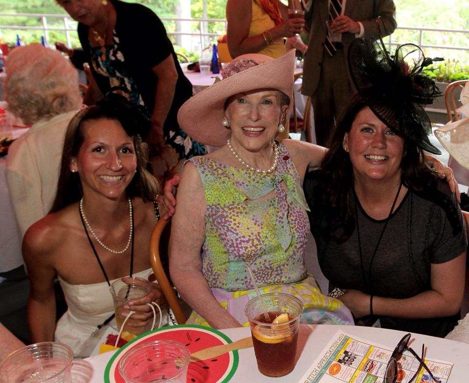 The Saratoga Social with Marylou Whitney, Saratoga's Grand Dame, at her Opening Day luncheon at the Saratoga Race Course