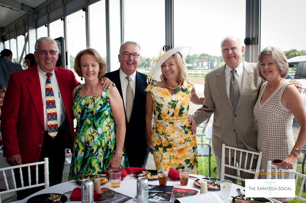 JOE AND GLORIA DALTON, MIKE AND LINDA TOOHEY, BILL AND SUSAN DAKE AT THE OPENING DAY WHITNEY LUNCHEON