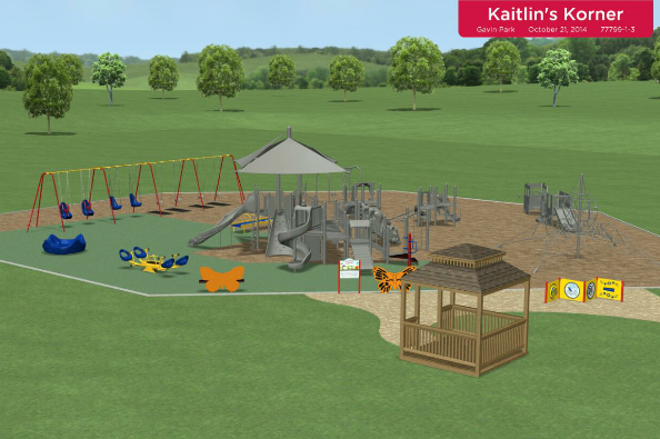 THE PLANS FOR KAITLIN'S KORNER, AN INCLUSIVE PLAYGROUND