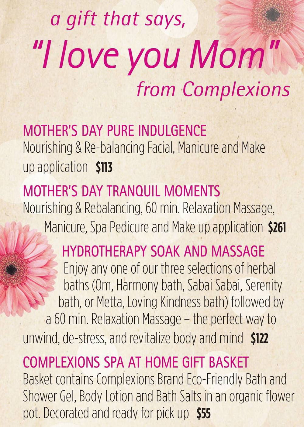 Click above to make Mom an appointment or buy her a gift certificate!