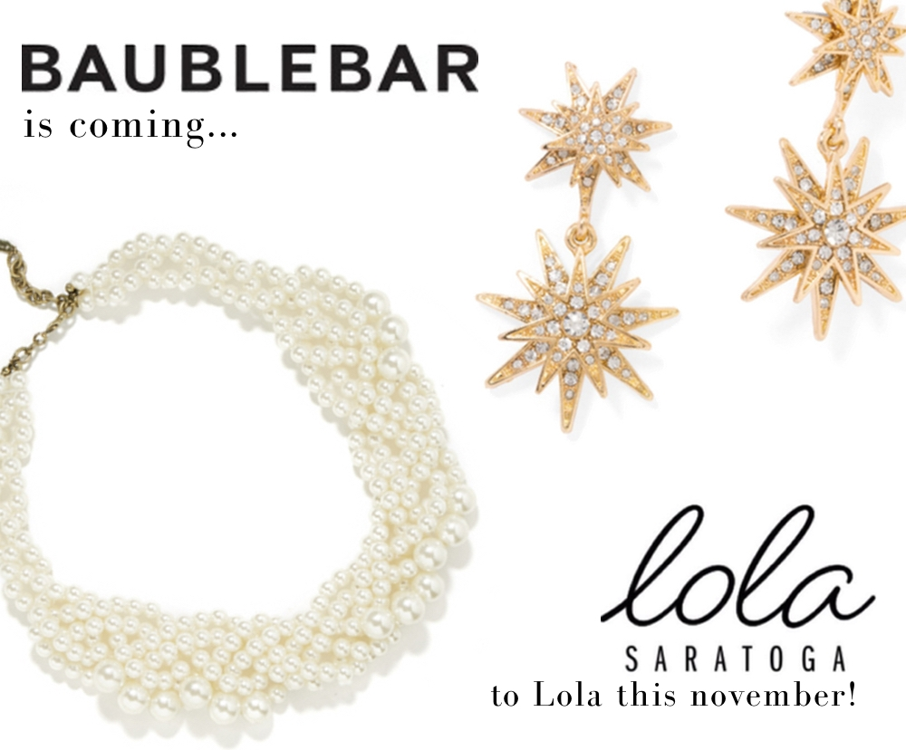 Two of the pieces coming to Lola this November!
