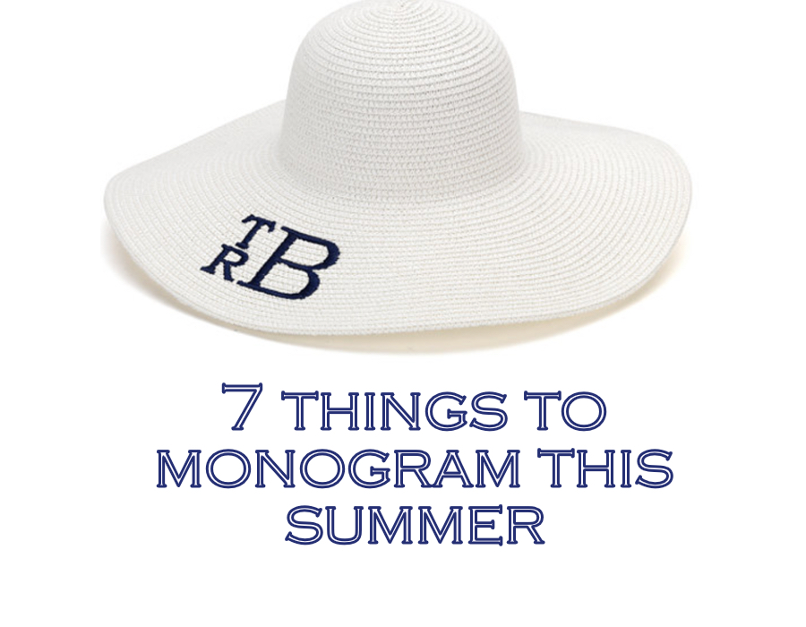 Monograms, always. July 2016