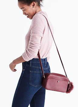 The Manchester Cross Body bag from Madewell is easy and affordable at $128. This one will go the distance with its simple style and classic shape.