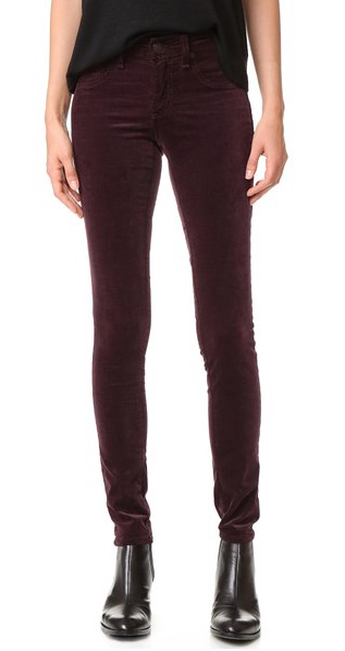 Velvet AND wine red... two hot trends in one. Rag & Bone pants, $225, at ShopBop.com