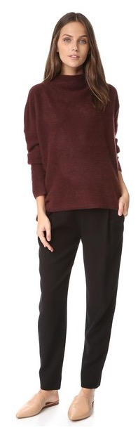 "Slouchy, comfy, cozy sweaters... what better way to conceal the extra ""winter layer"" we're giving ourselves with all the hearty, fall foods and beers we've been consuming? Vince Boiled Wool Sweater, $385, Shopbop.com"