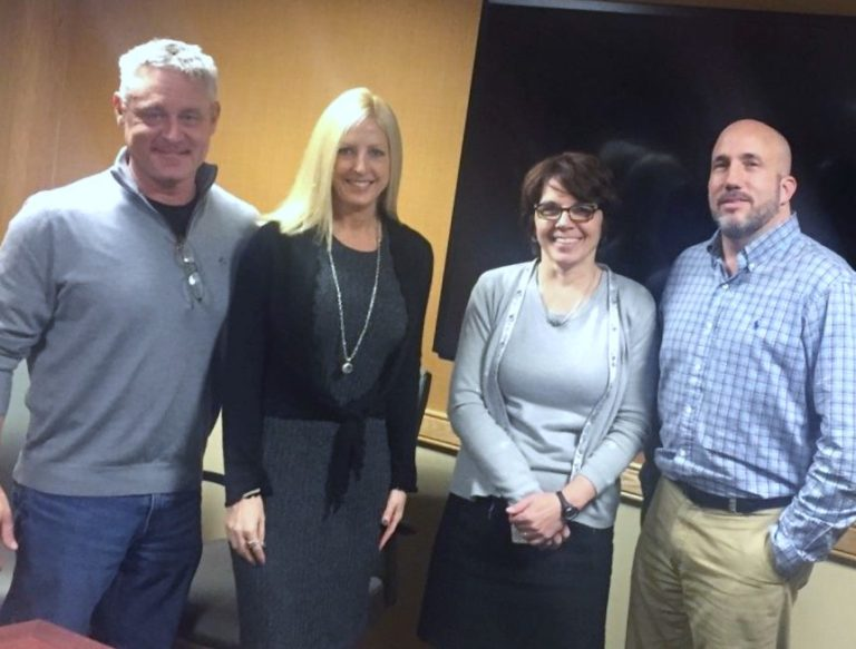 Ed and Lisa Mitzen, Marcy Dreimiller – Shelters of Saratoga – Board President; Michael Finocchi – Shelters of Saratoga – Executive Director