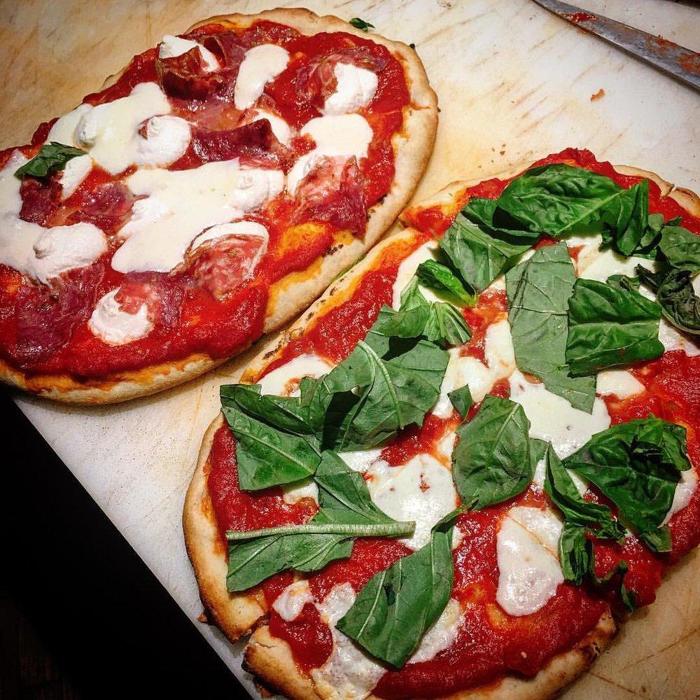 Margharita Pizza and Ricotta + Salumi Pizza!