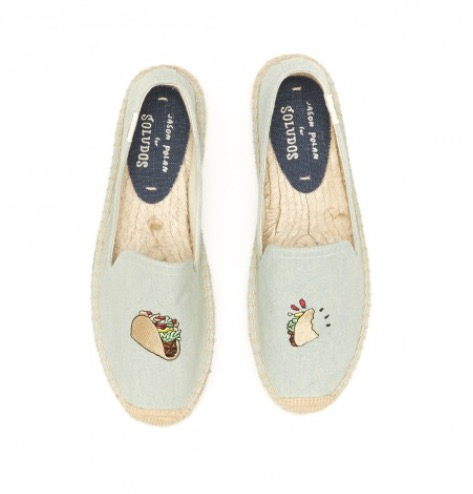 Tacos are not just for Tuesdays... show your taco love all summer with these awesome little espadrilles. (We also LOVE the winky ones that Caroline and Main had last summer... fingers crossed they'll be back!)