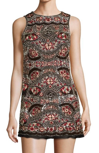 This Alice + Olivia shift is sophisticated, sexy, and full-on with the embroidery. It's a stunner!