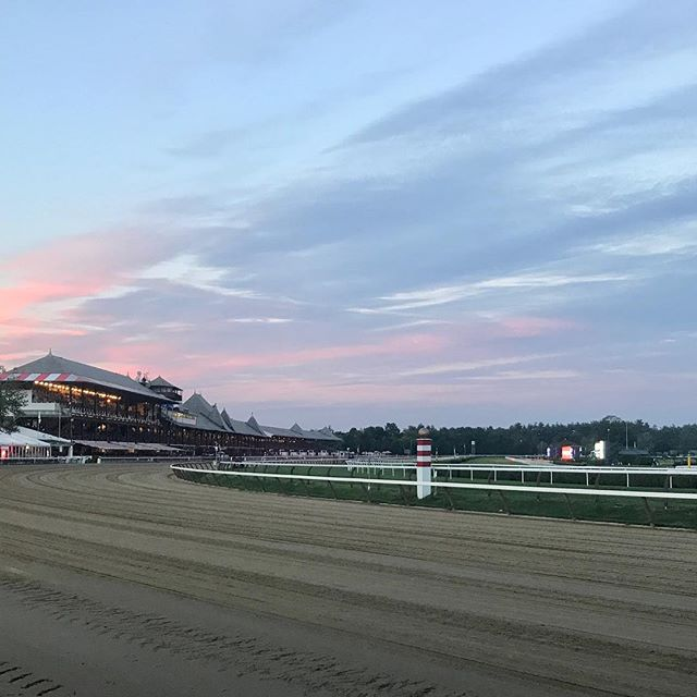 A beautiful sunset at the track this weekend to get you through the #darkday