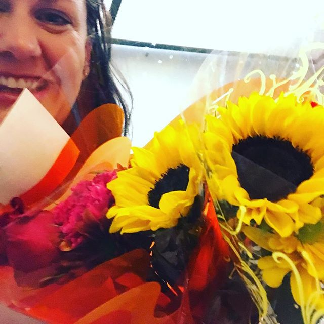 Thanks for brightening up our morning @dehns_flowers !! #petalitforward