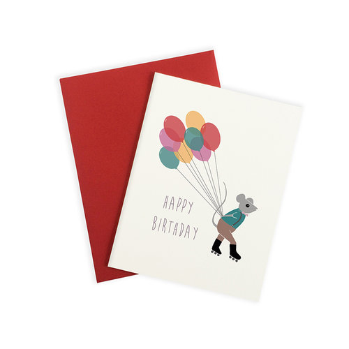 Delivery Mouse Birthday Card GC210 Web