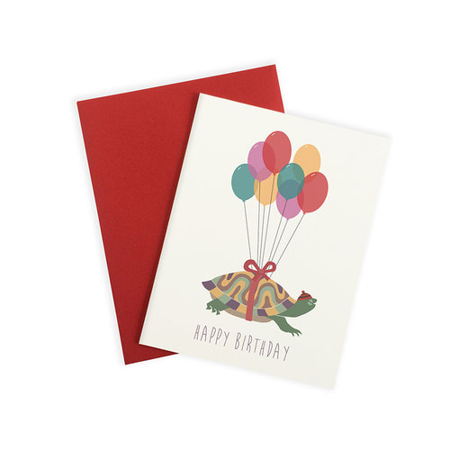 May We Fly Floating Turtle Birthday Card