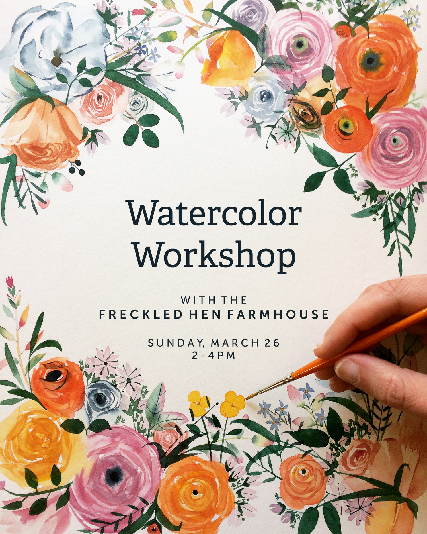 May We Fly Watercolor Workshop At The Freckled Hen Farmhouse
