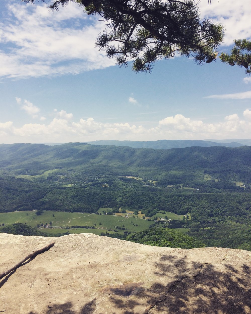 "This is my metaphor for looking at the ""big picture."" It's also a really pretty place in Virginia called McAfee's Knob."