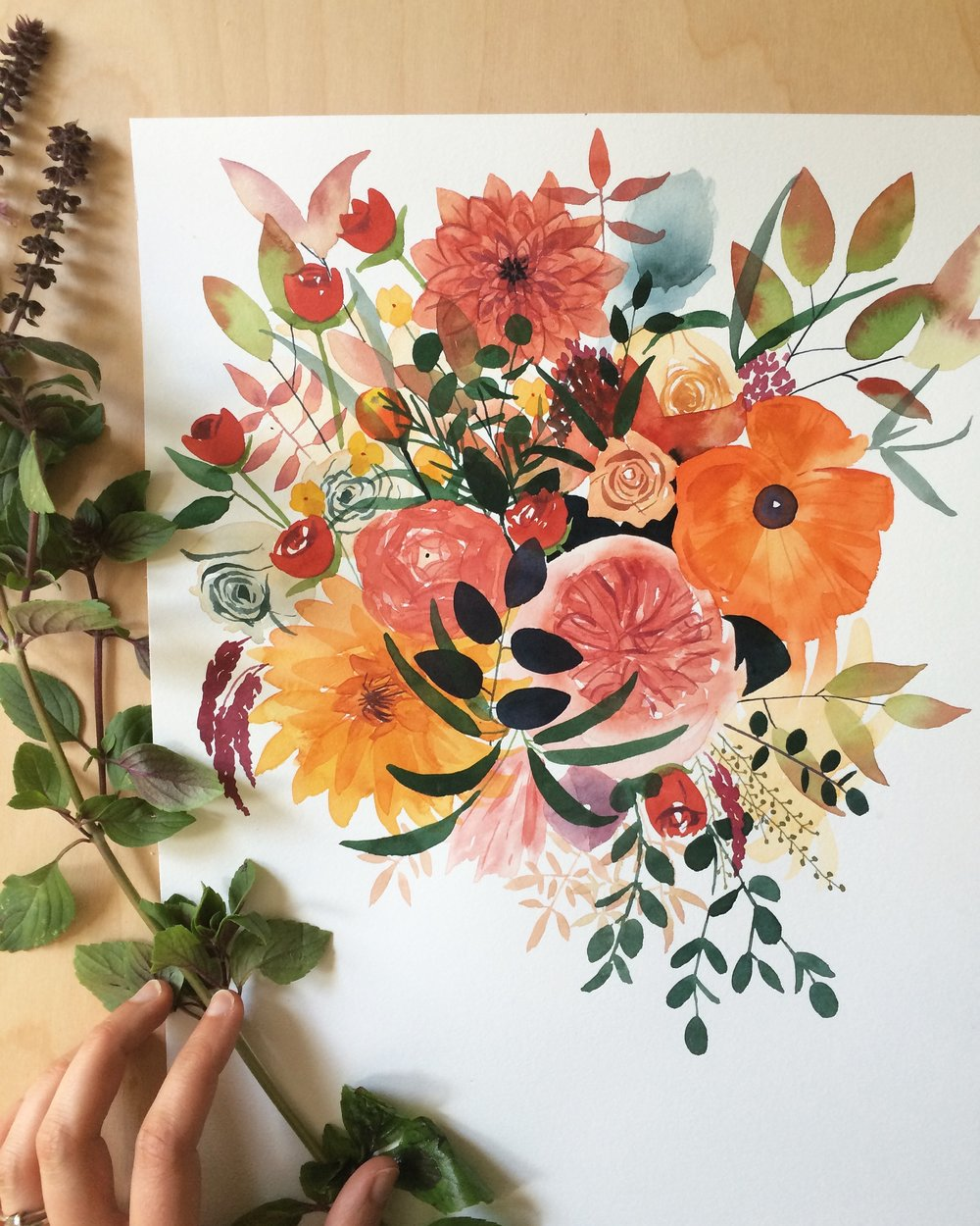 I kept painting flowers!