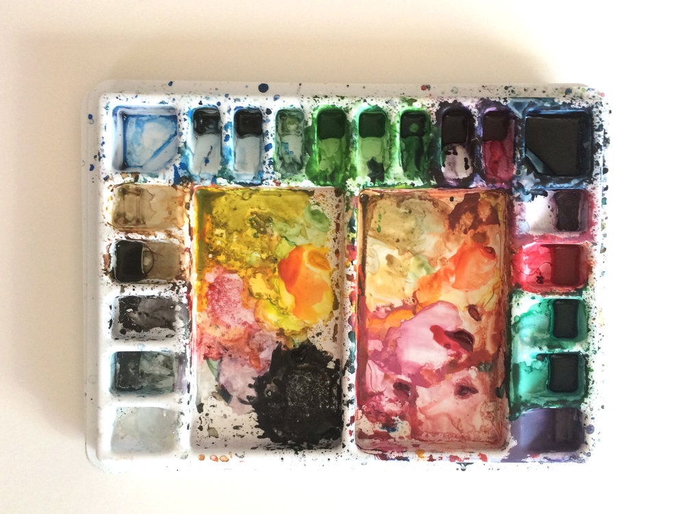 My palette is never clean.