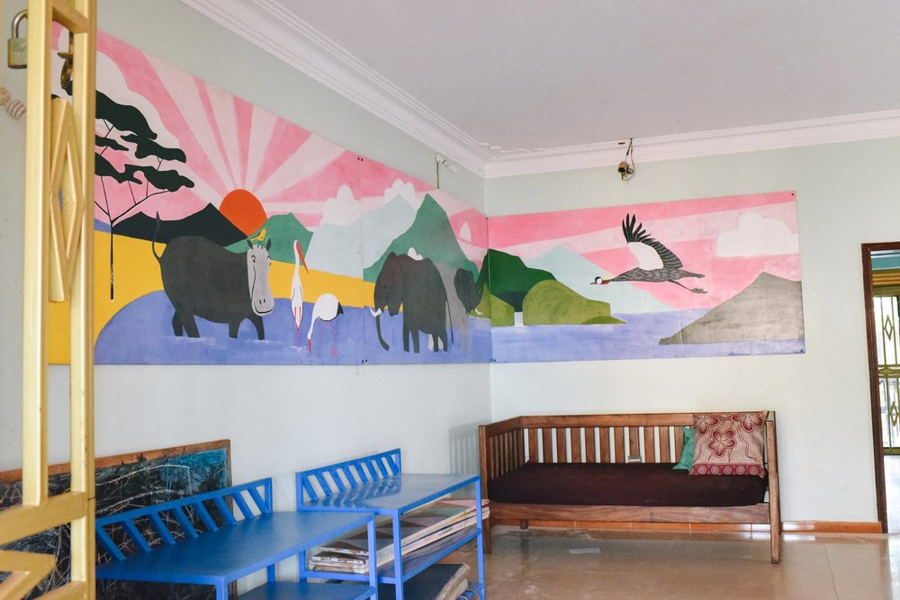 The finished mural.  Photo credit Ekisa Ministries