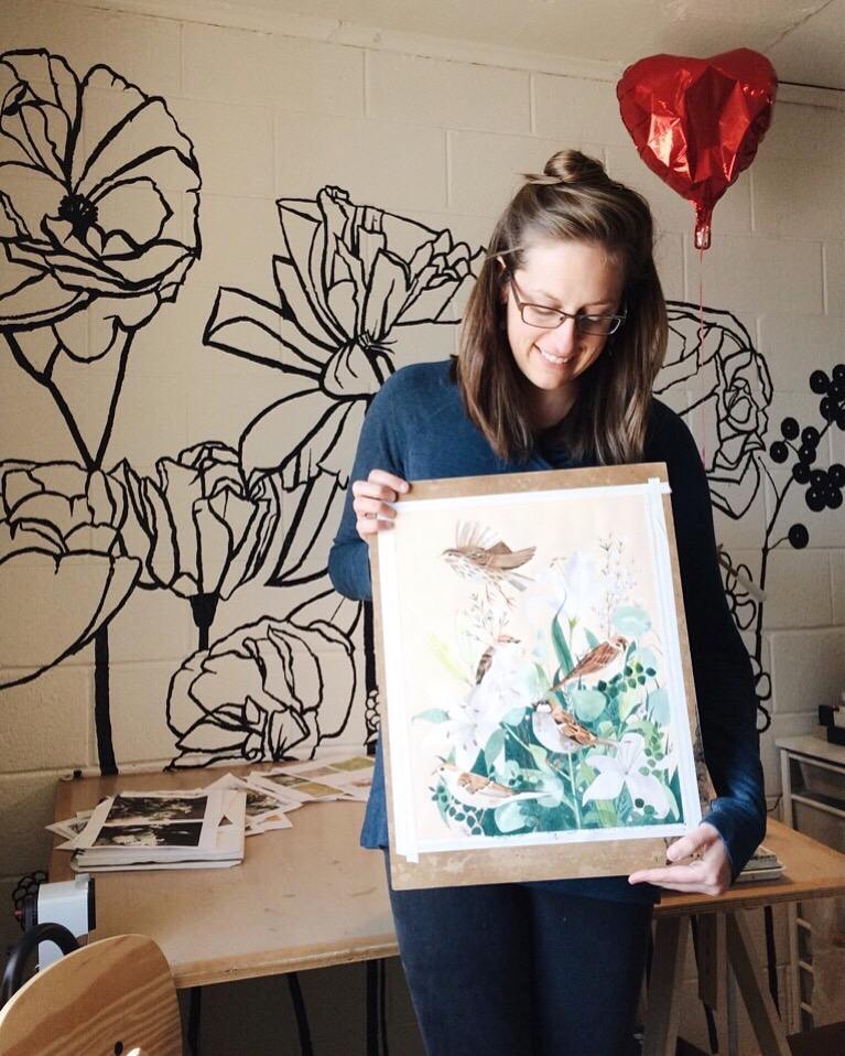 Watercolor artist Leana Fischer in Fayetteville, AR