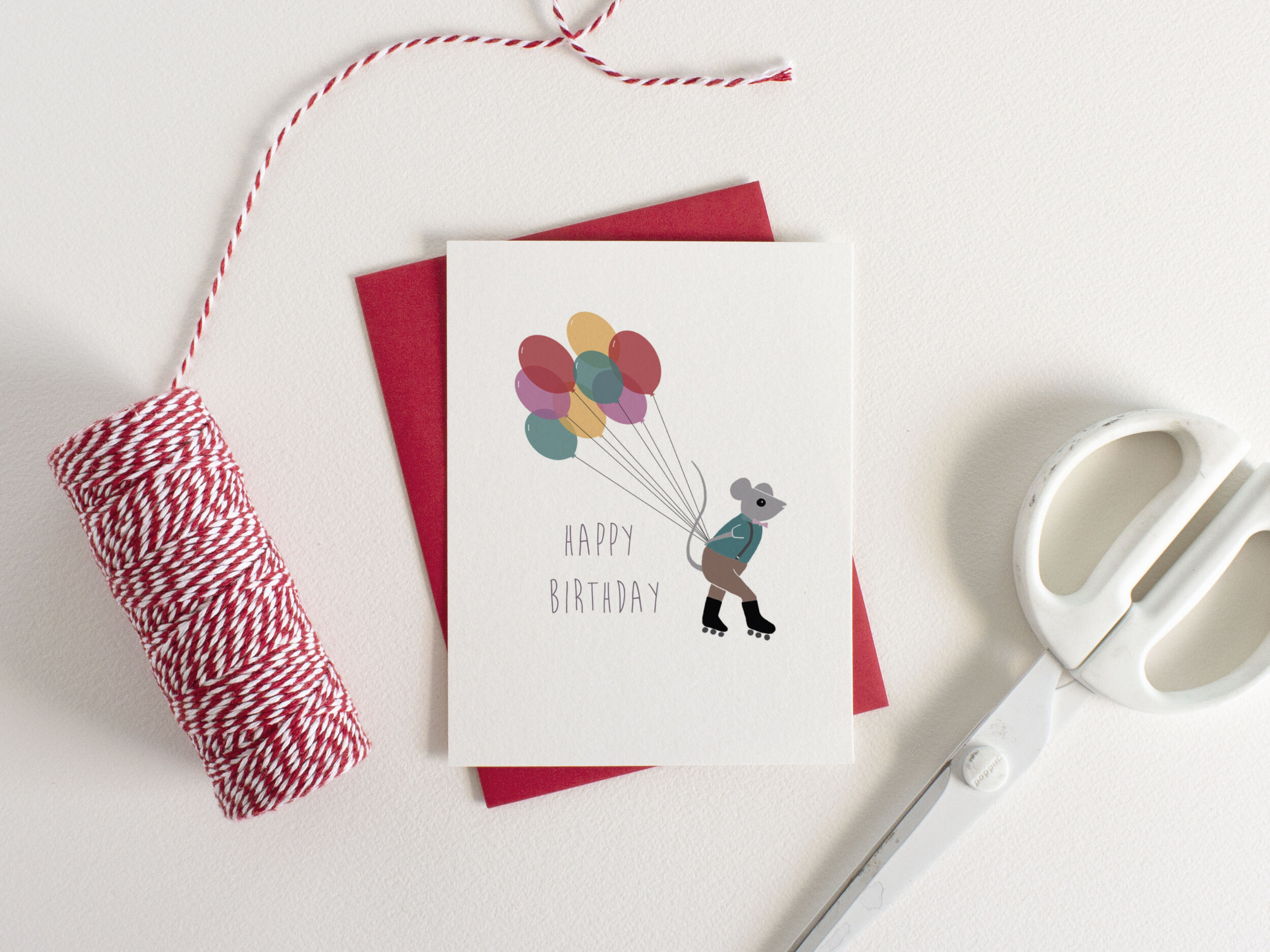 Delivery Mouse Birthday Card