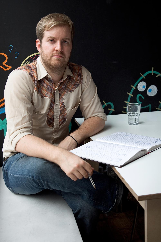 James Bowden of web studio GR/DD      Photographed for Web Designer