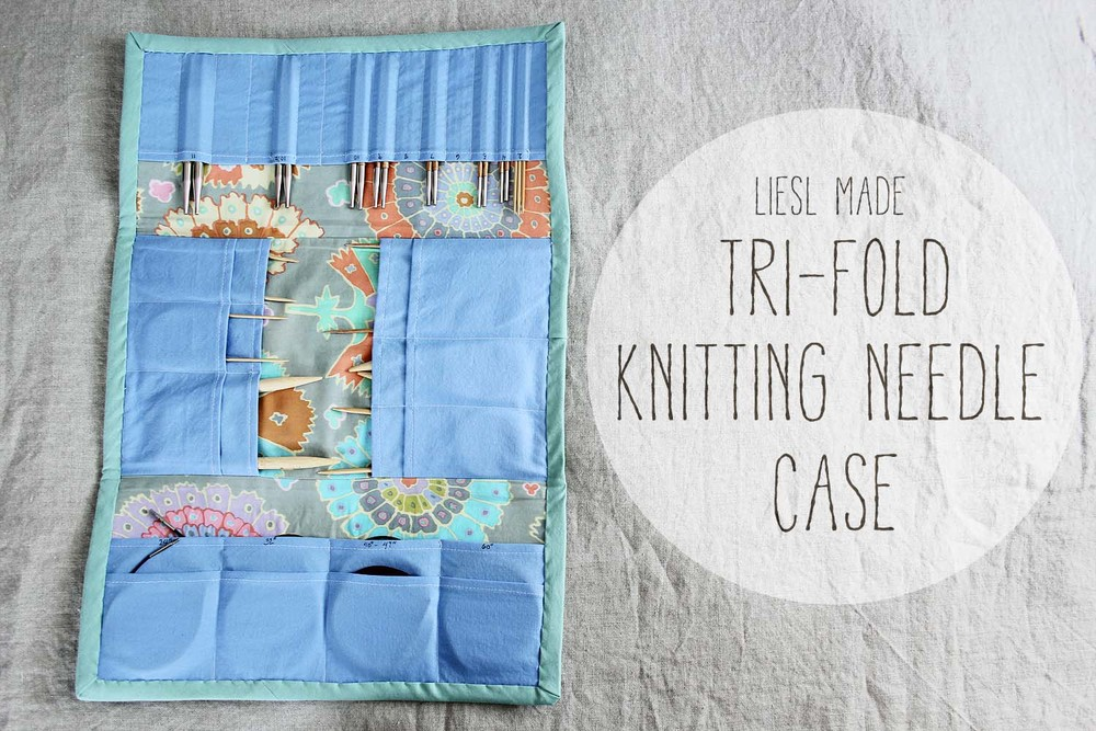 Knitting Needle Case Sewing Pattern : Deluxe Tri-Fold Interchangeable Knitting Needle Case Tutorial   Buckaloo View