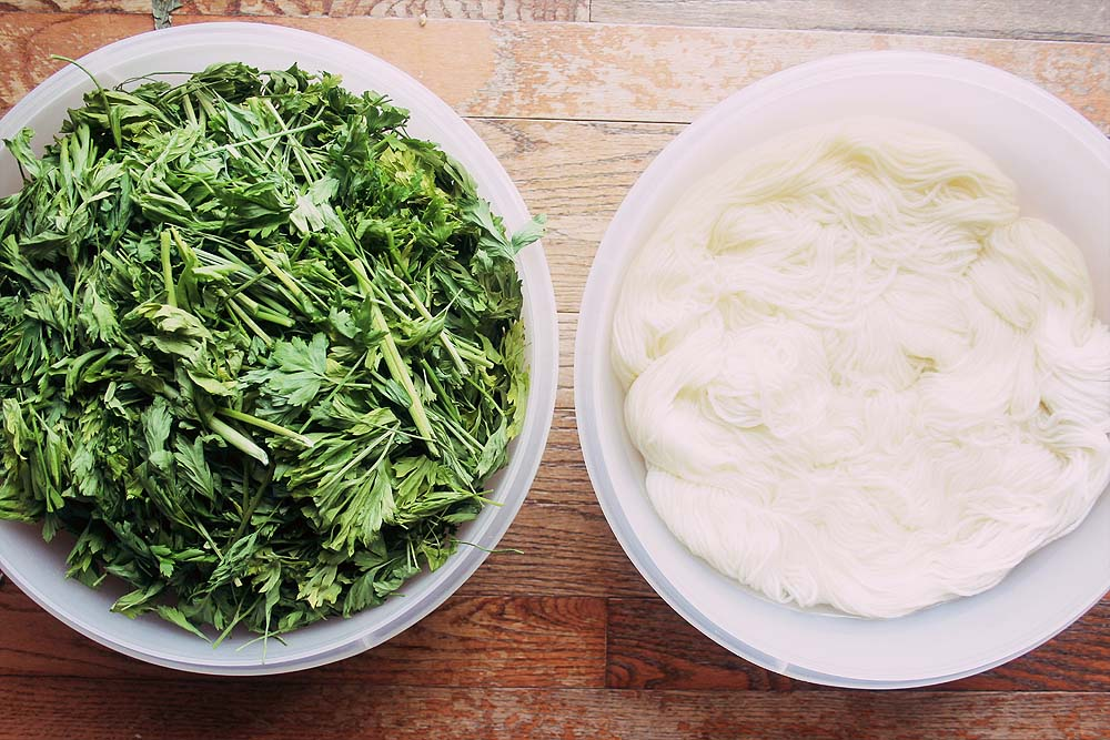 Dyeing with Parsley